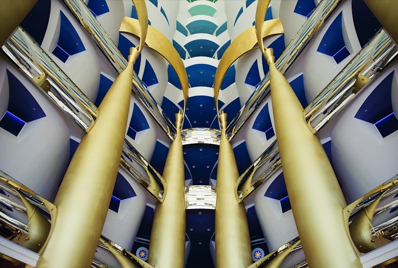 Chambres luxueuses du Burj al Arab Jumeirah - Atrium