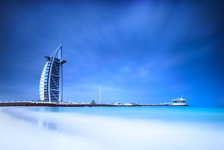 Hôtel Burj al Arab Jumeirah et plage à Dubaï