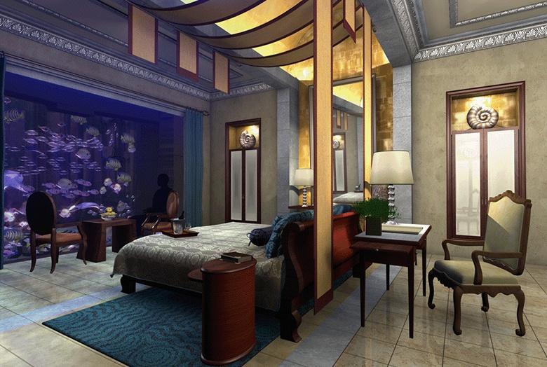 Les chambres luxueuses à Dubaï