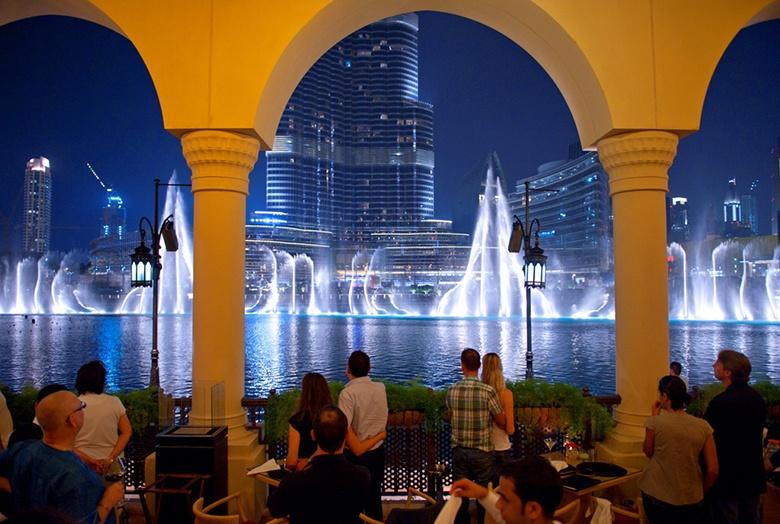 Les fontaines du Burj Khalifa