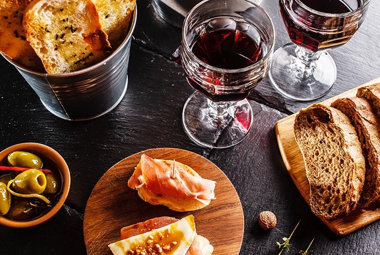 Dégustation de vin catalans